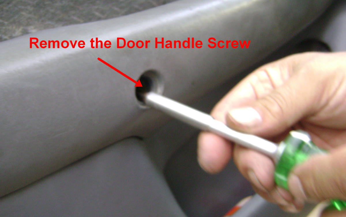 Remove the Door Handle Screw