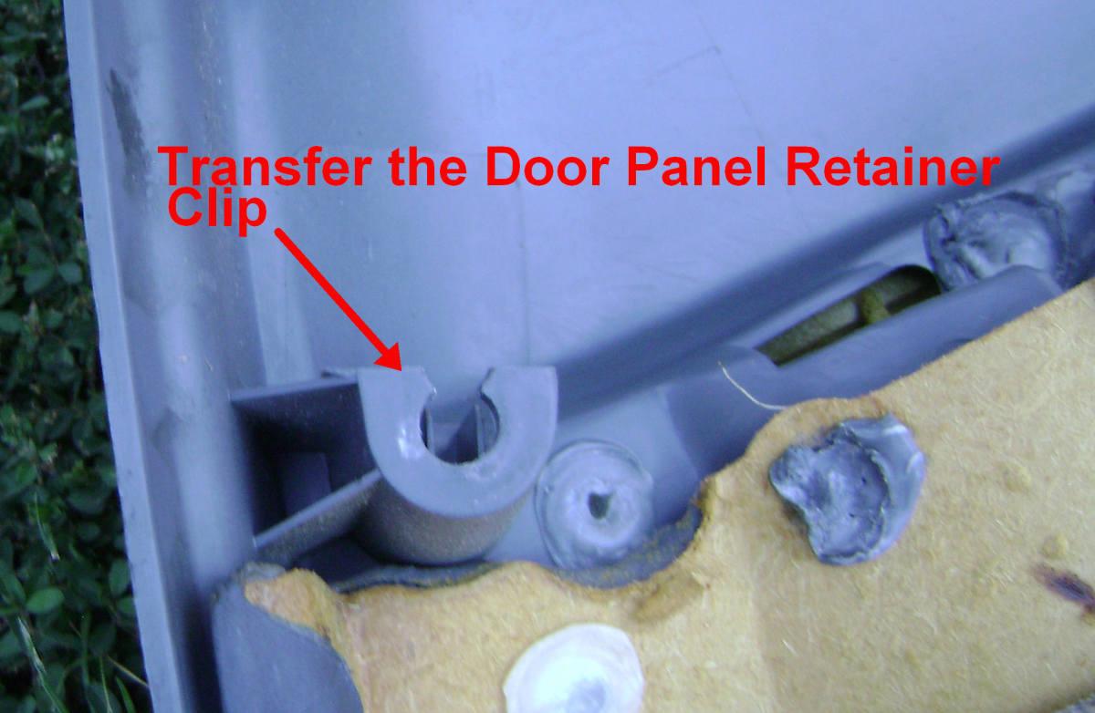 n. Transfer the plastic retainer clip.