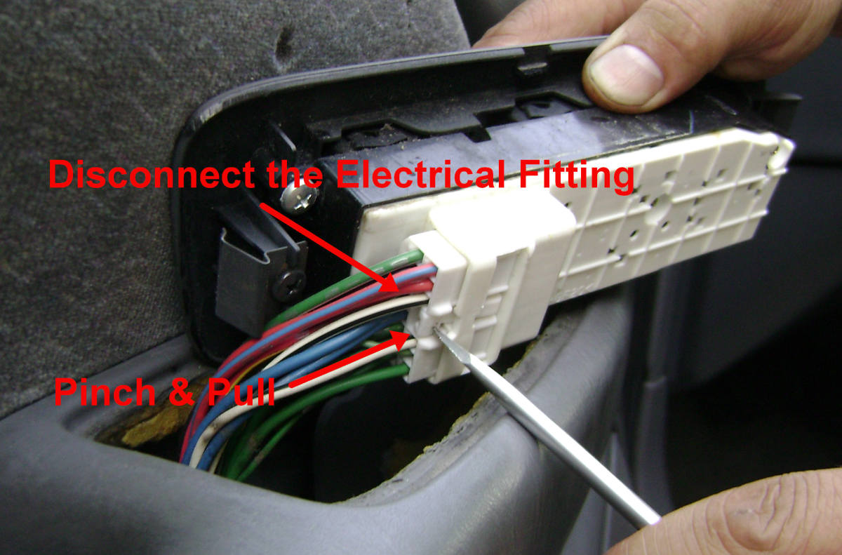 b. Disconnect the Power Window Switch Electrical Connector