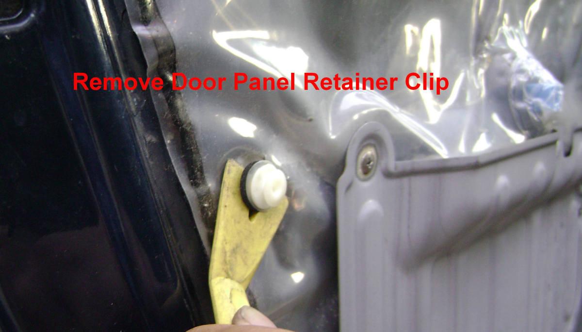 m. Remove the plastic retainer clips,