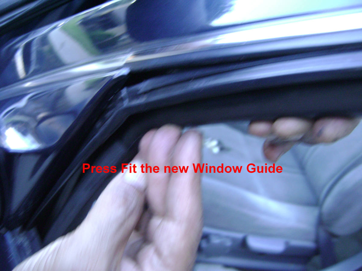 h(2). Press-fit the new window guide.