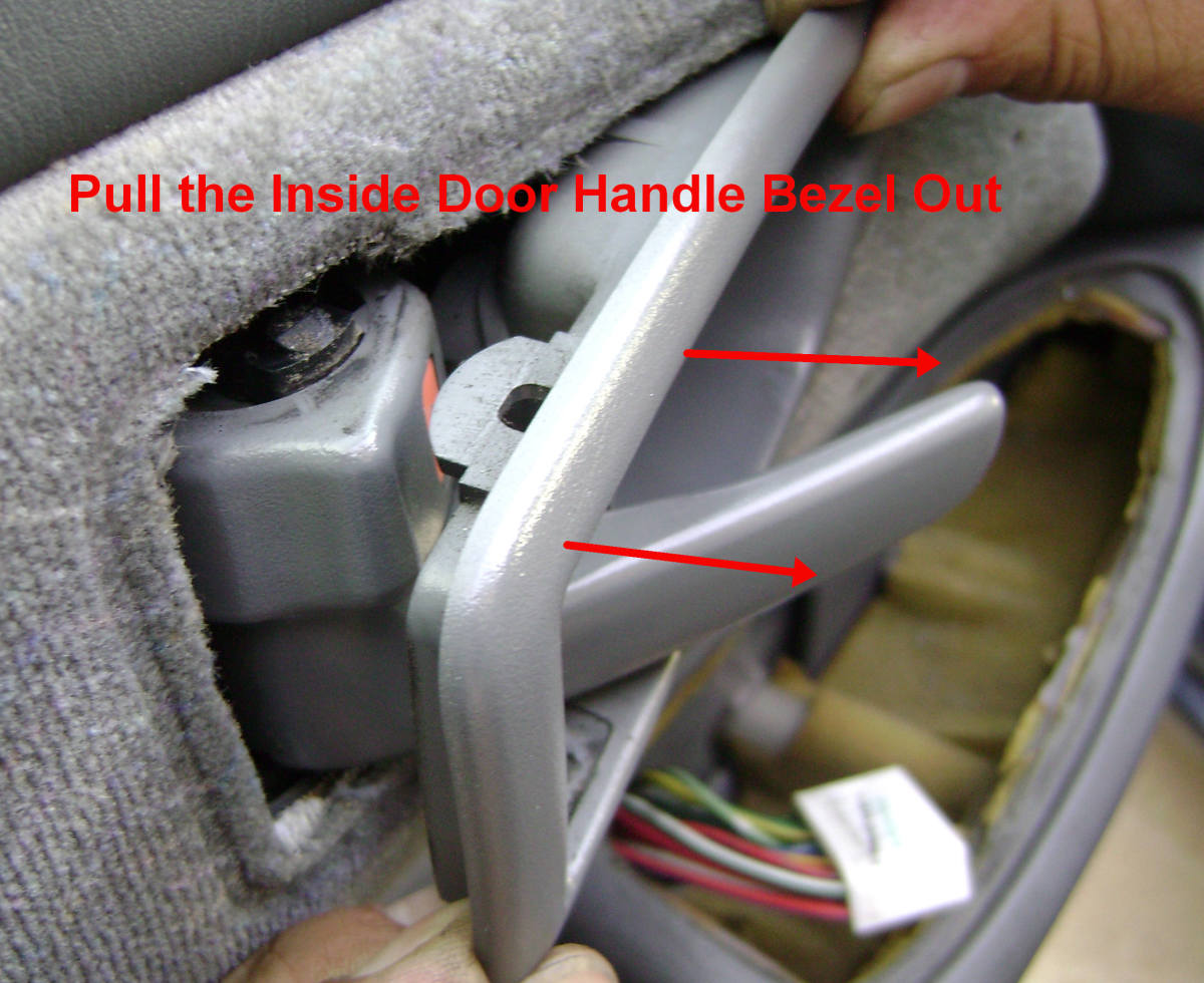 e(3). Pull the handle bezel out.