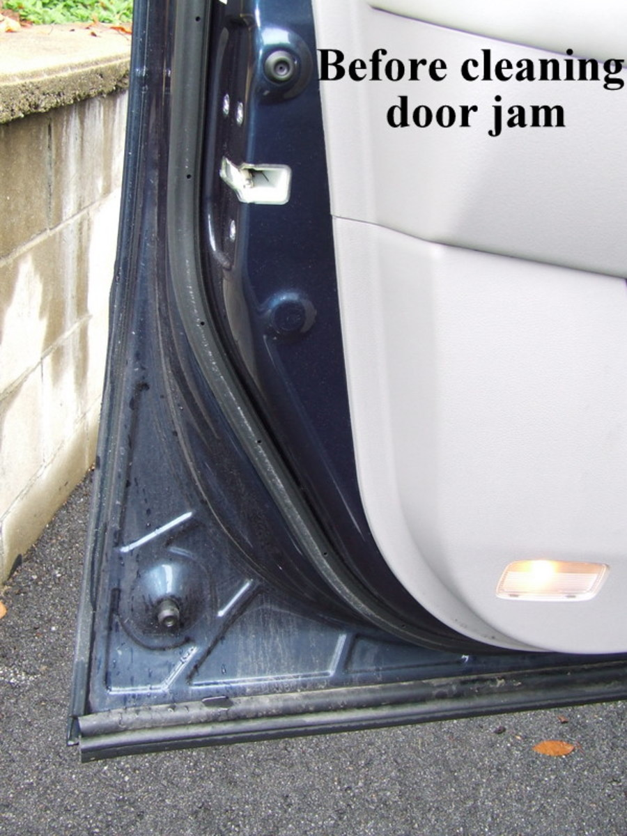 Clean the door jams