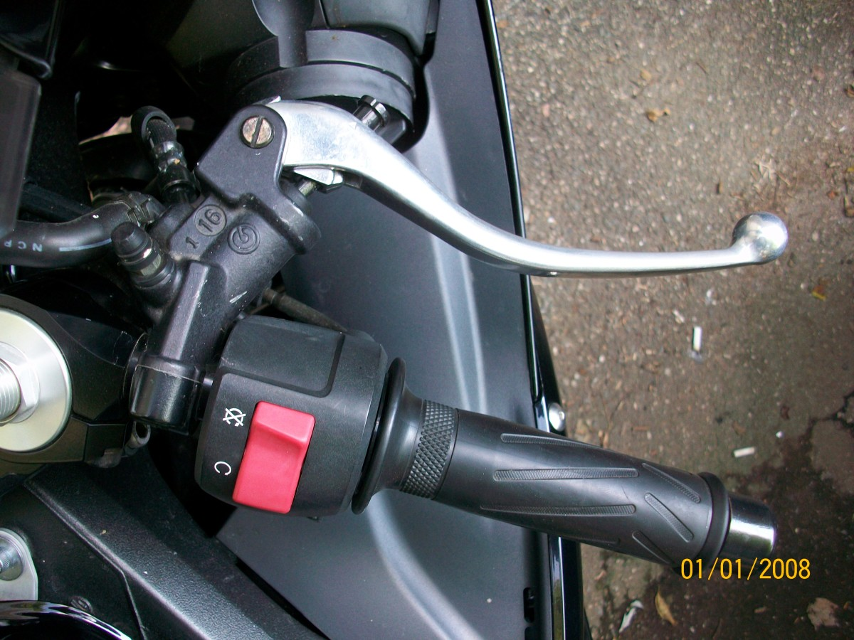 Front Brake Lever and Twist Throttle