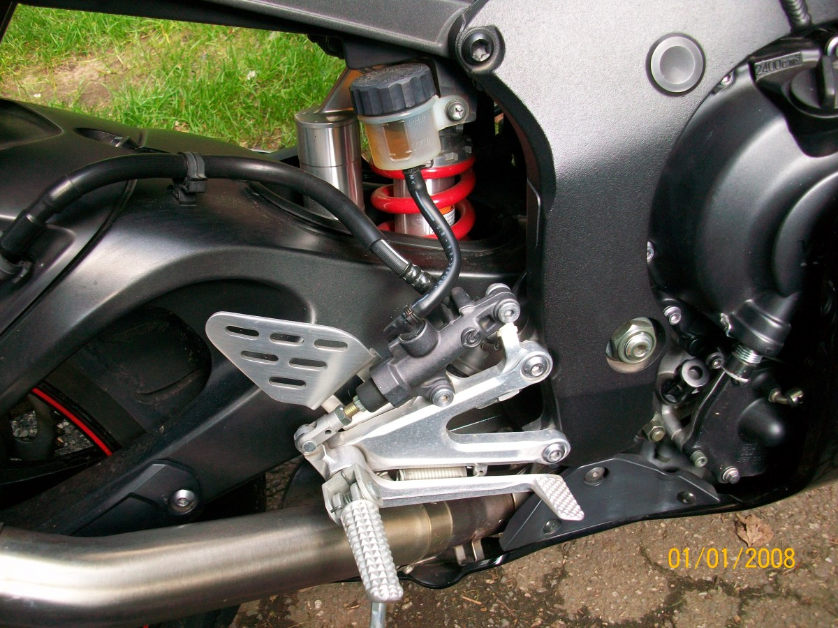 Back Brake Pedal and Fluid Reservoir