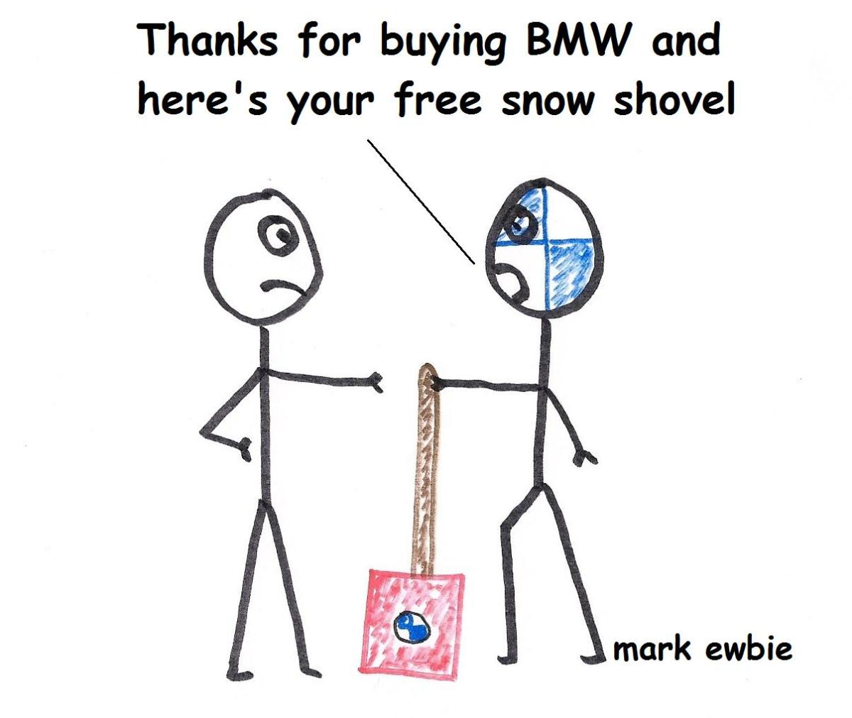 Every rear wheel drive BMW should come with a free snow shovel