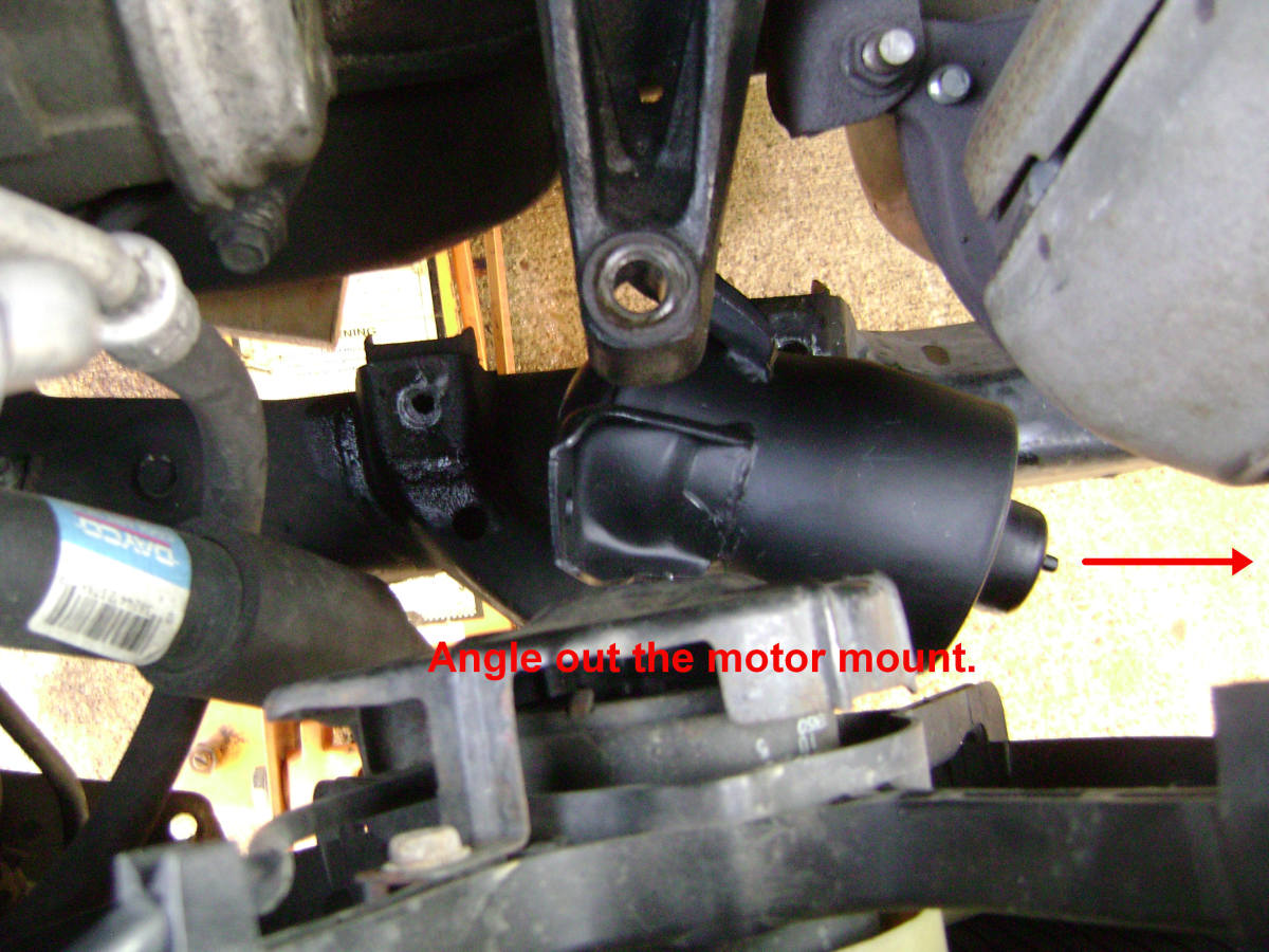 Remove the Camry motor mount.