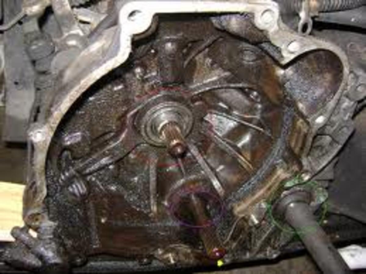 Leaking input shaft seal.