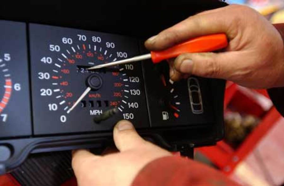 It is not so difficult to re-set the mileage tumblers