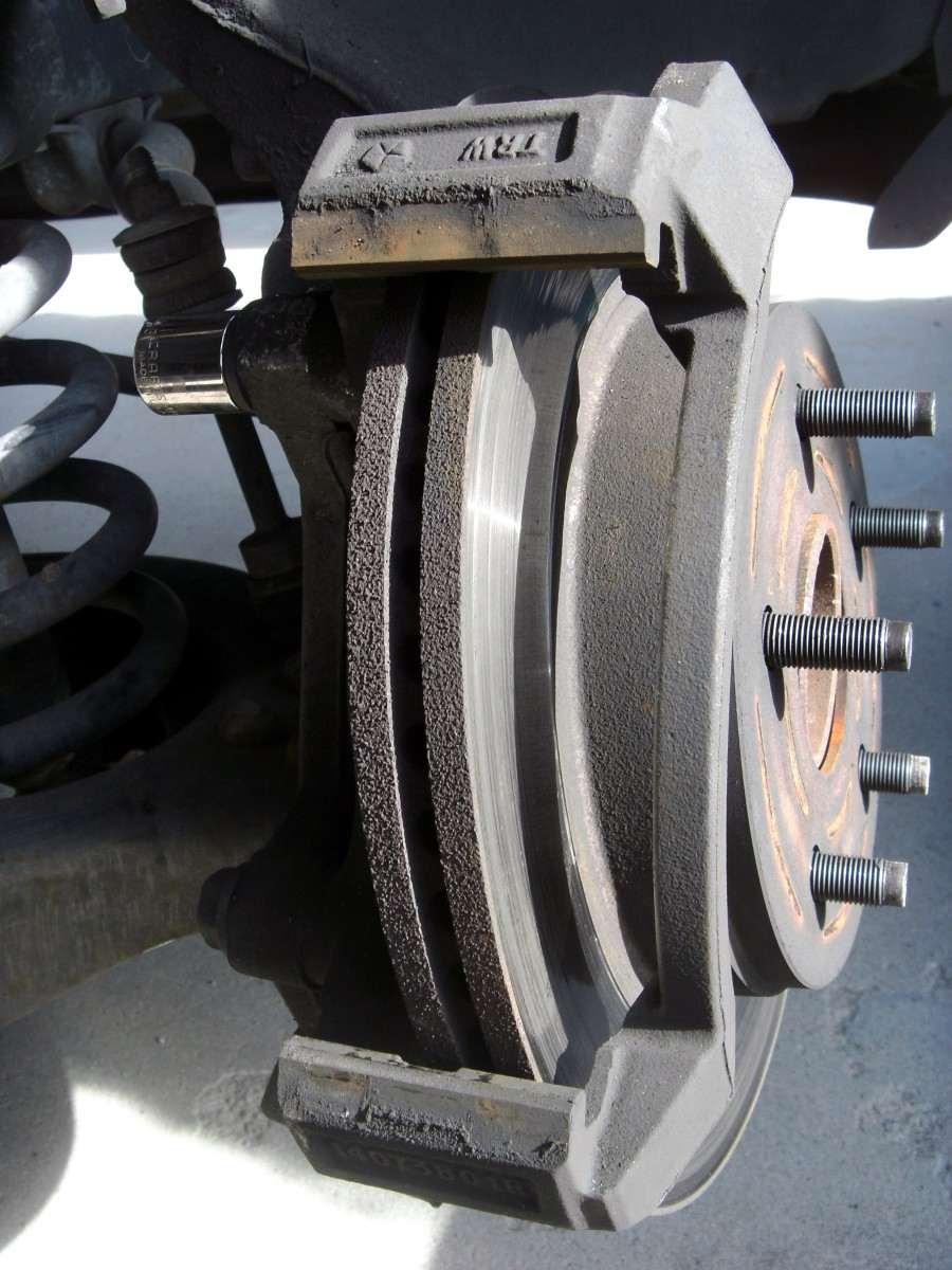 Rotor, showing the bracket that must be removed