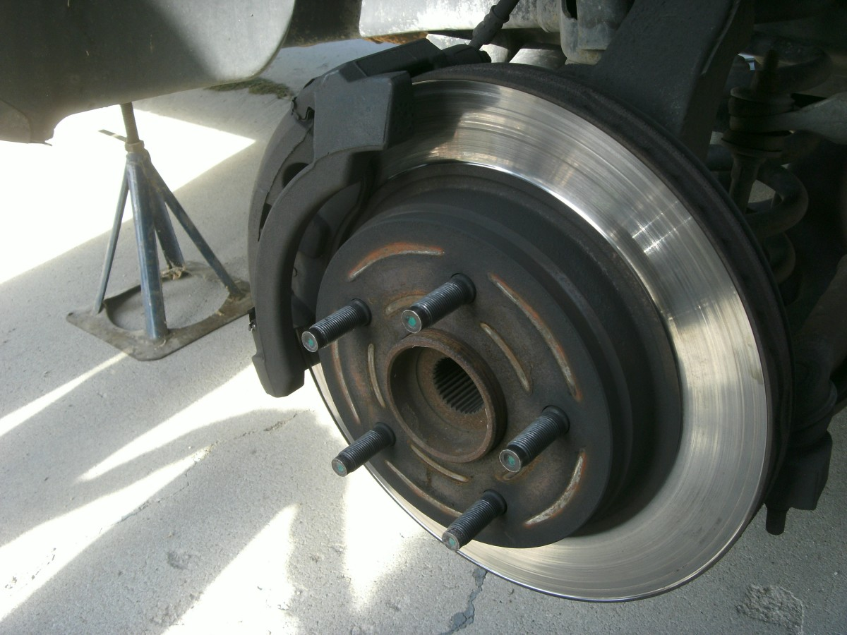 Tire removed, the caliper is to the left