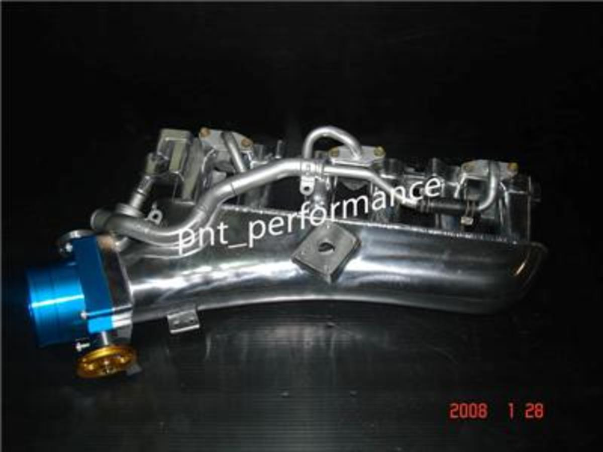 PnT Performance RB20 intake manifolds use premium aluminum and high quality welds.  They come as a complete bolt on setup.