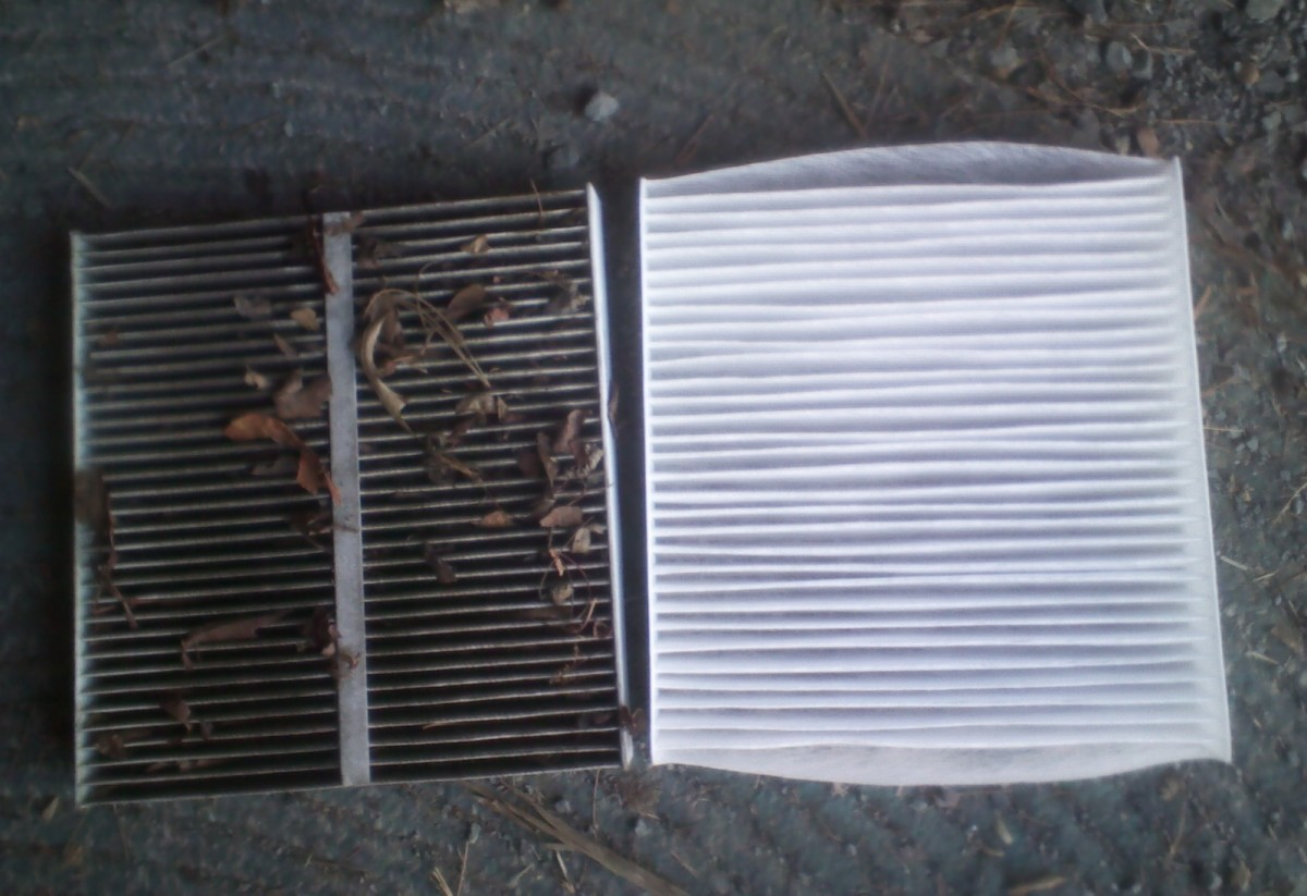Dirty vs. clean cabin filter