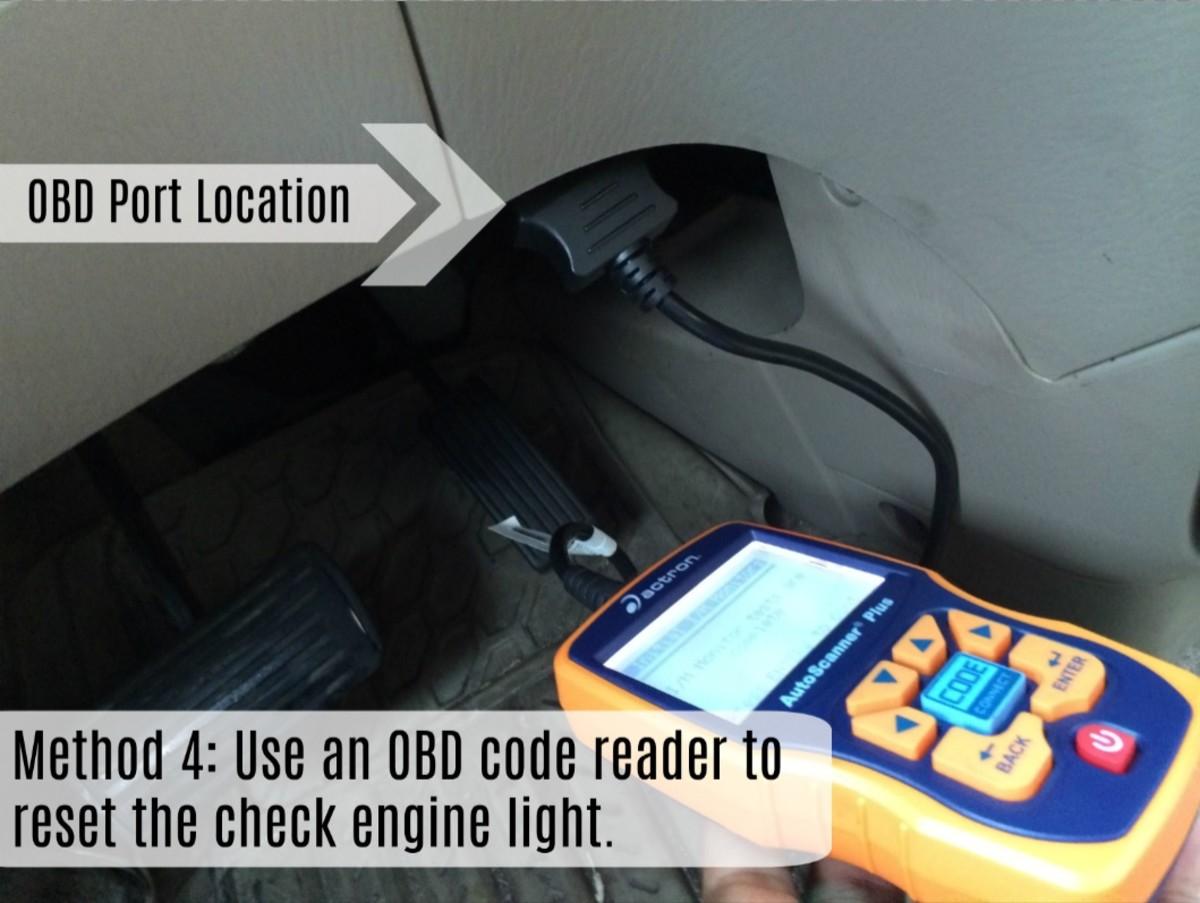 使用OBD阅读器重置检查引擎灯是一个非常有效的方法。