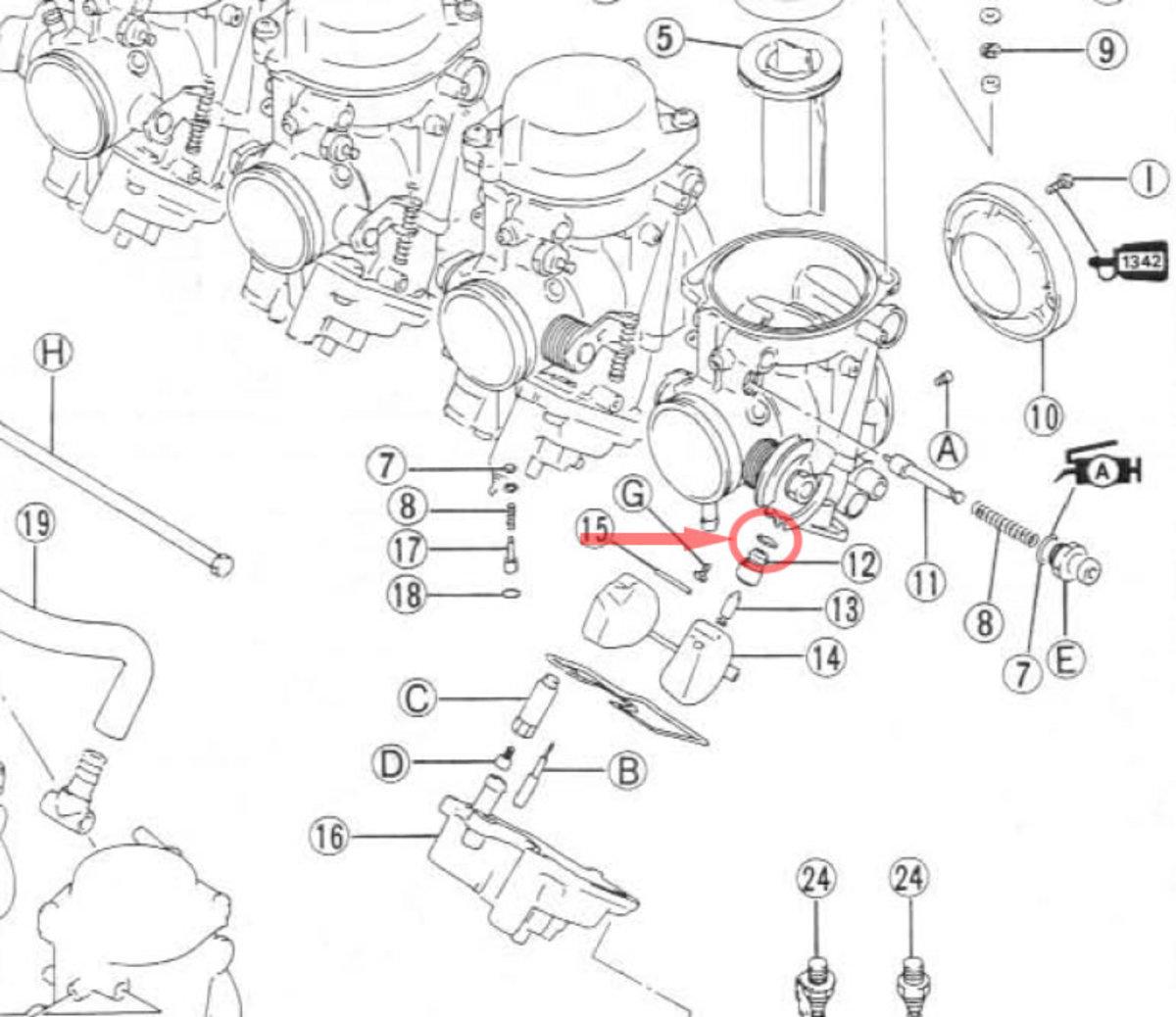 1988 honda shadow engine diagram