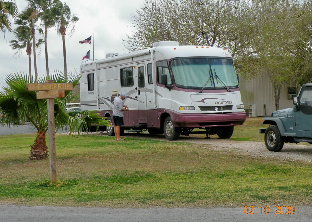 It can be tricky to get everything to fit into the RV!