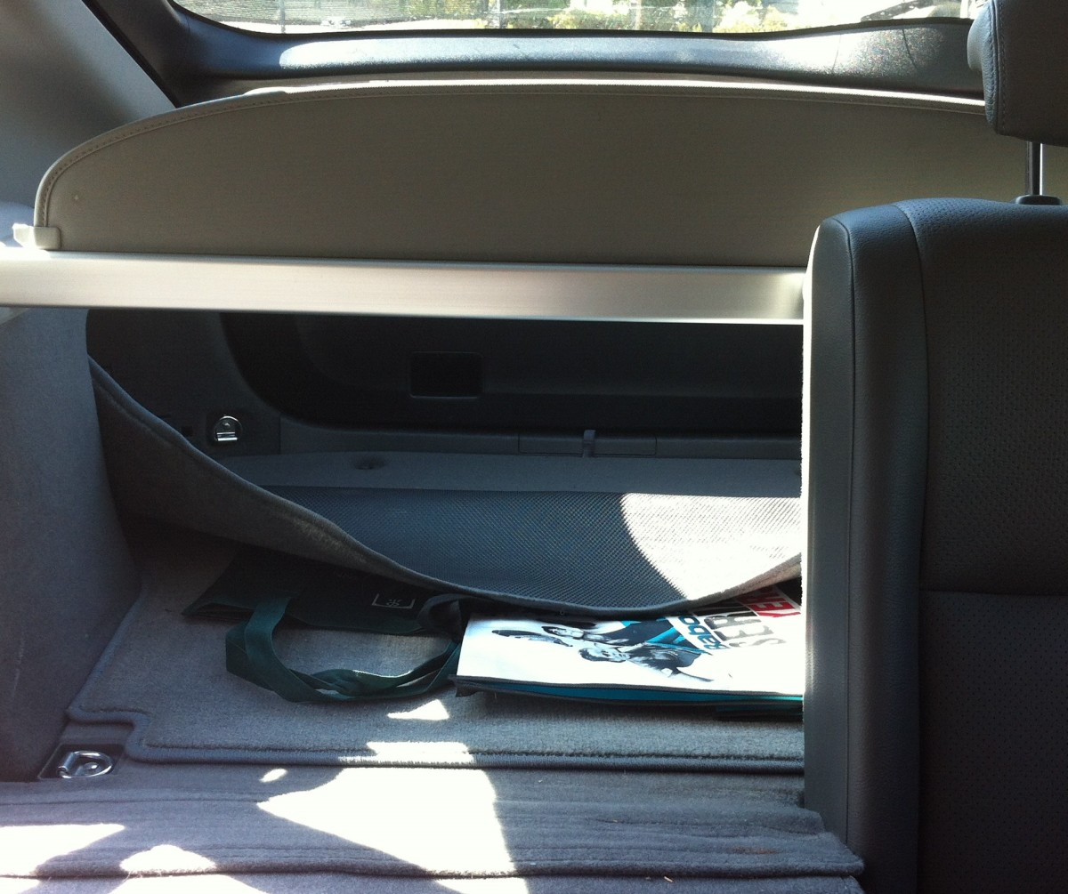 Pull back the carpet to expose access to the tool box.
