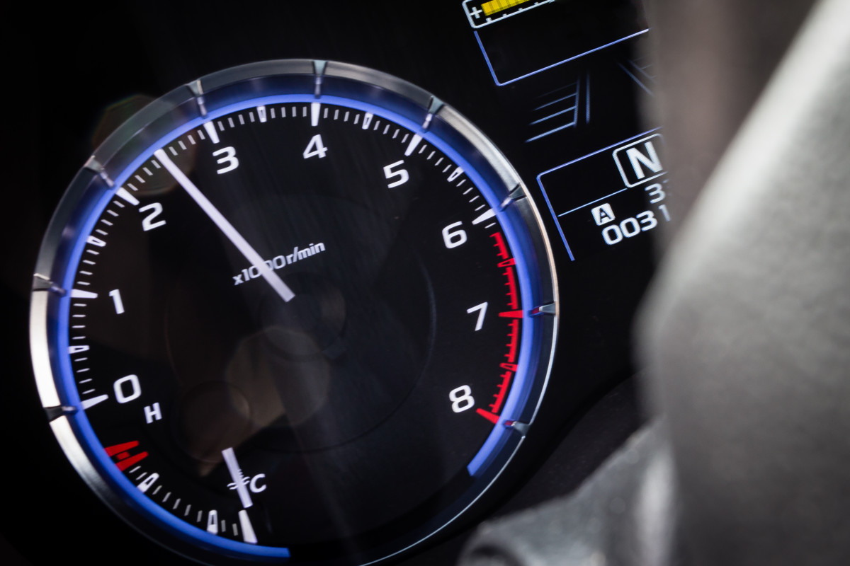 To shift from first to second and then into higher gears, watch your tachometer. When the neele reads 2500 or 3000 rpms, your engine is ready for you to shift into higher gear.