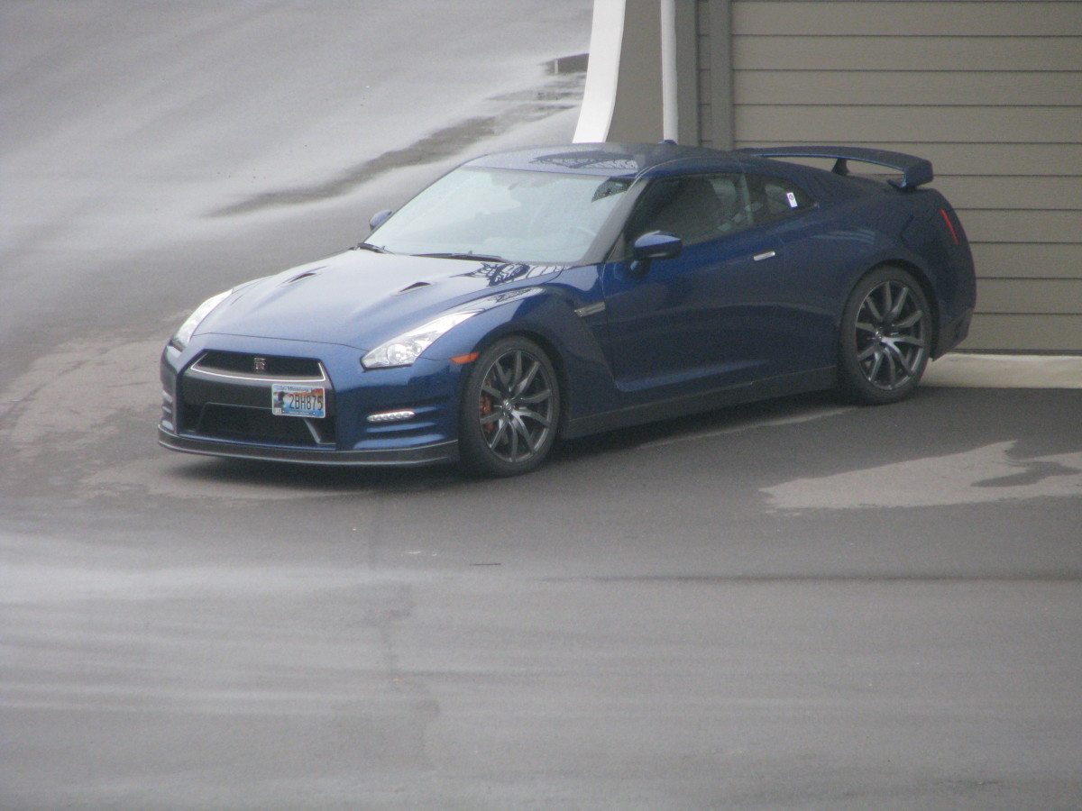 Blue Nissan GT-R