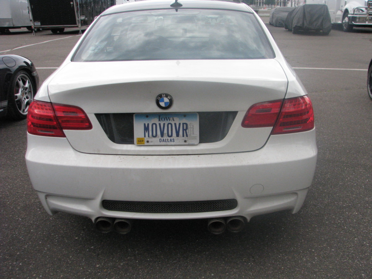 BMW M3 back view