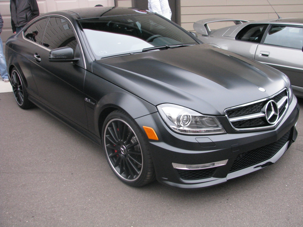 The C63 AMG Coupe in matte black
