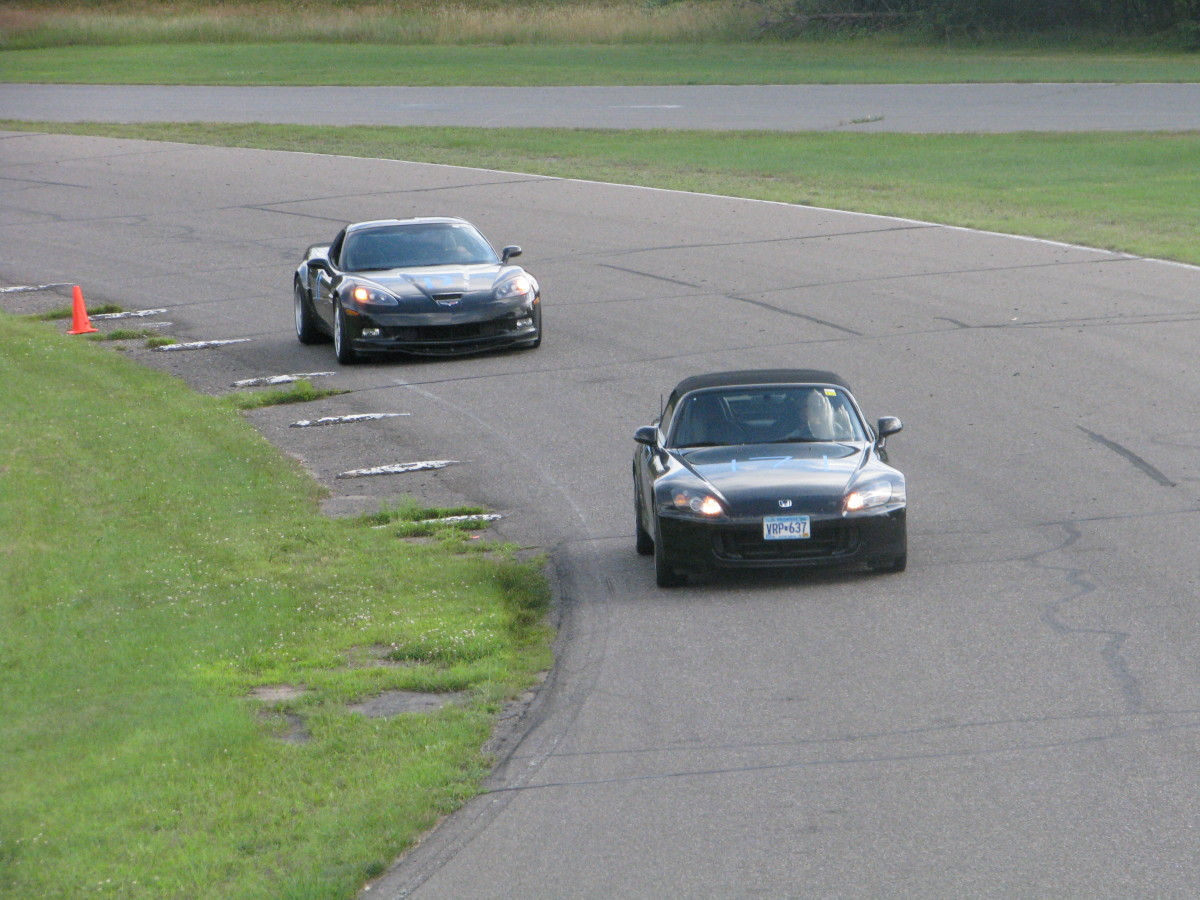 The Corvette in pursuit of a Honda S2000 (which might have made the list if it was still in production)