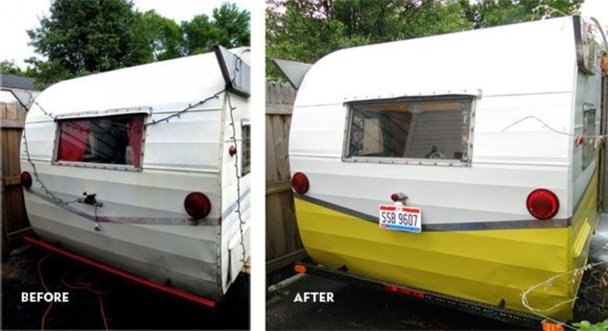 Before & After DIY Camper Paint Job