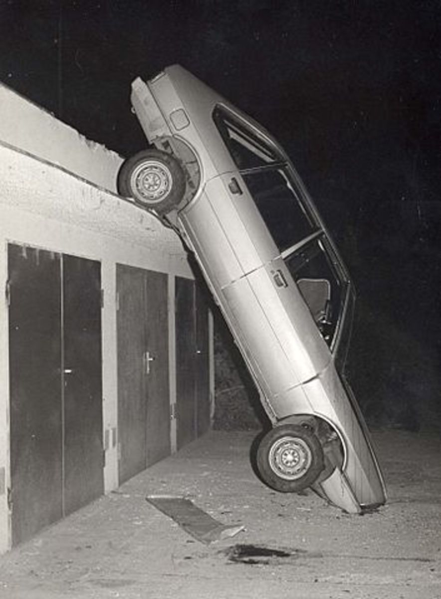 I would be willing to bet that this driver broke more than a few driving laws!