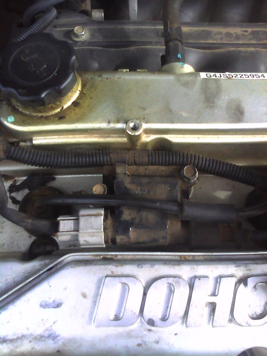 Coil Attached; Notice two 10 MM bolts