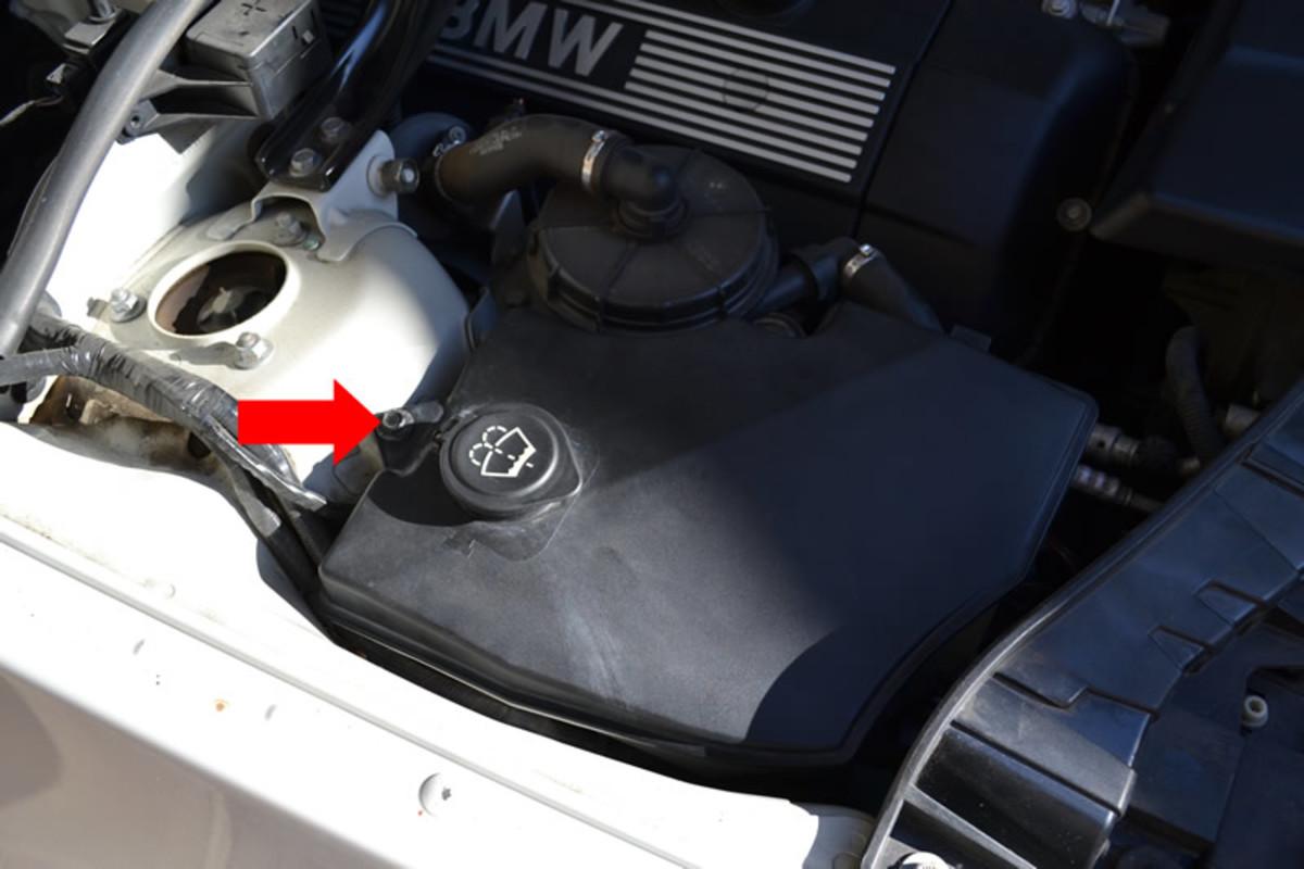 Bmw X3 Washer Fluid Leak Fix