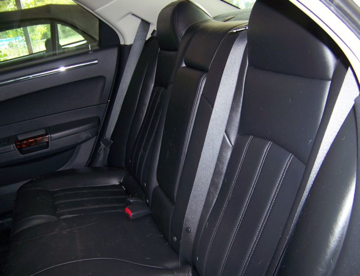 Check the rear seats too. A little dog hair here.