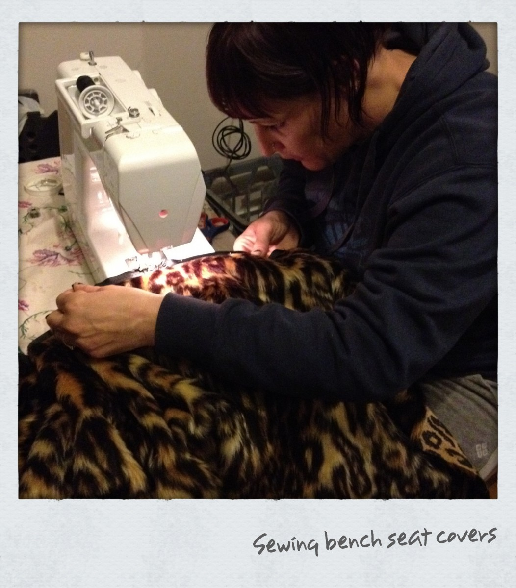 Making own car seat covers, curtains and cushion covers can save you $$