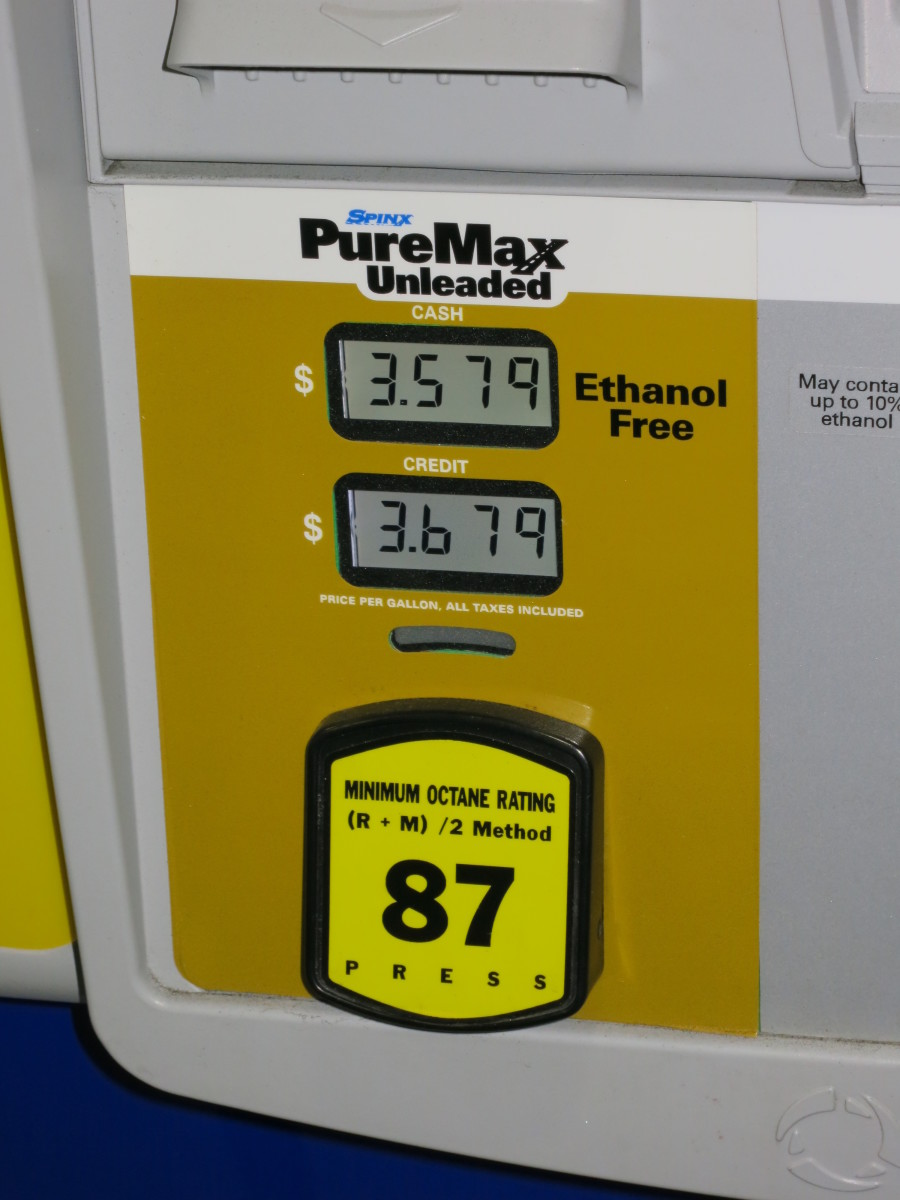 The price per gallon for ethanol-free Puremax.