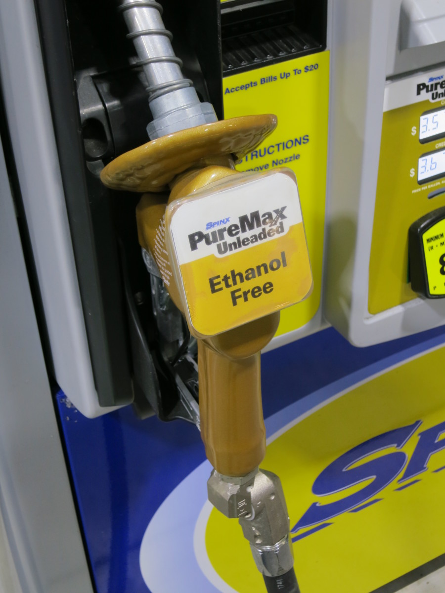 Gas nozzle for PureMax, a pure gas fuel offered by local filling stations
