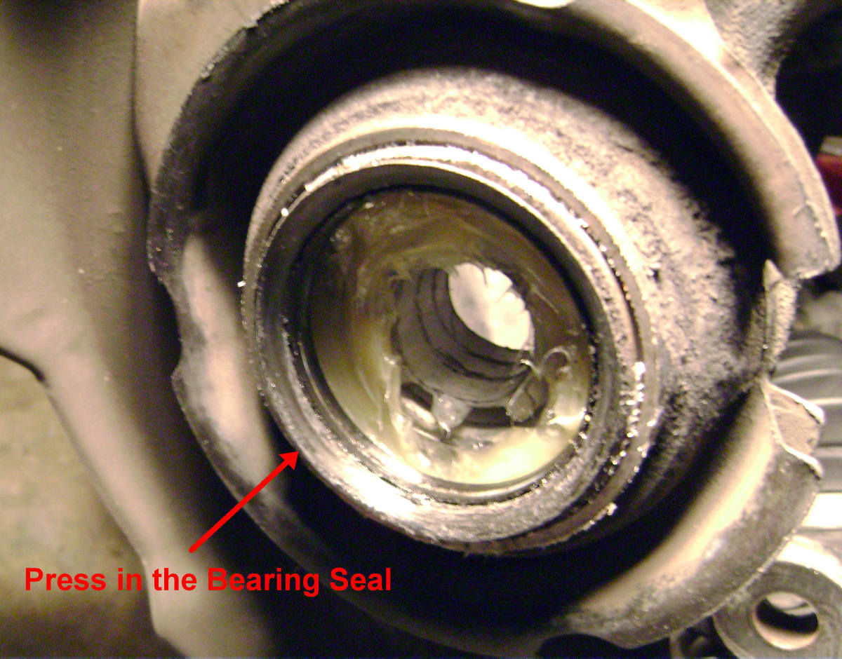X Press In The Dust Cover Bearing Seal