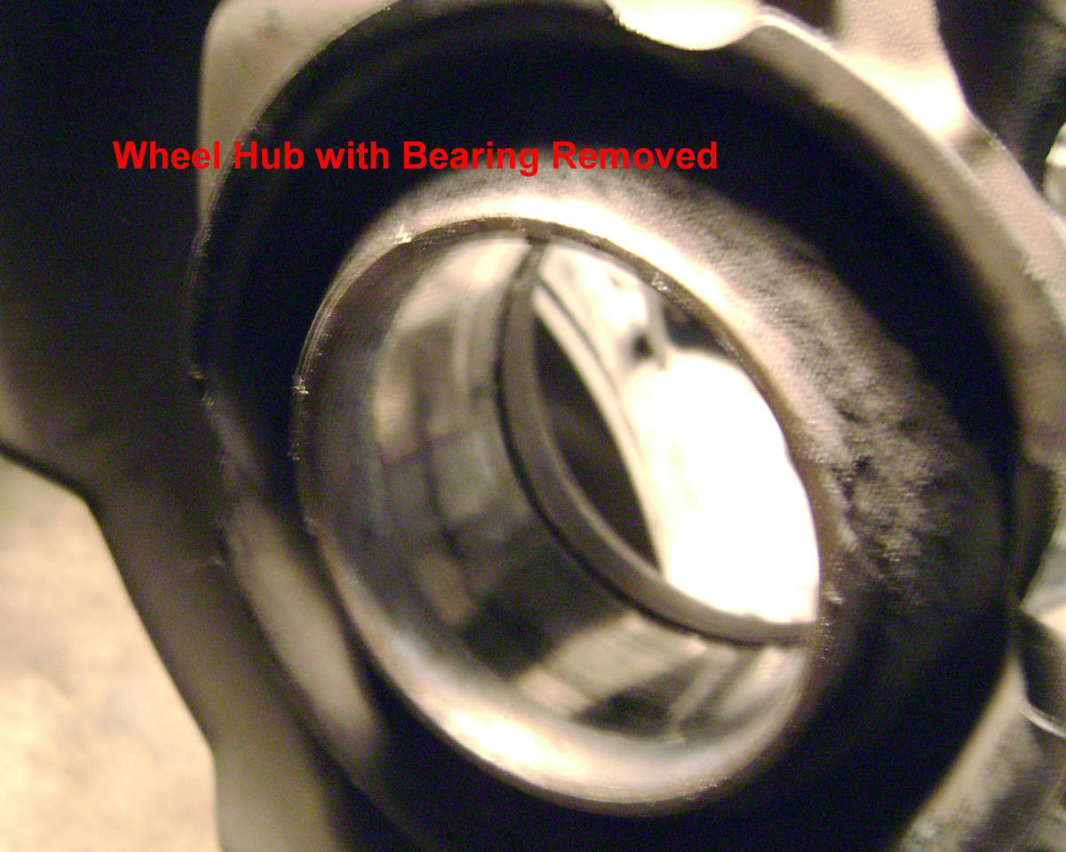 U.  Wheel hub with bearing removed