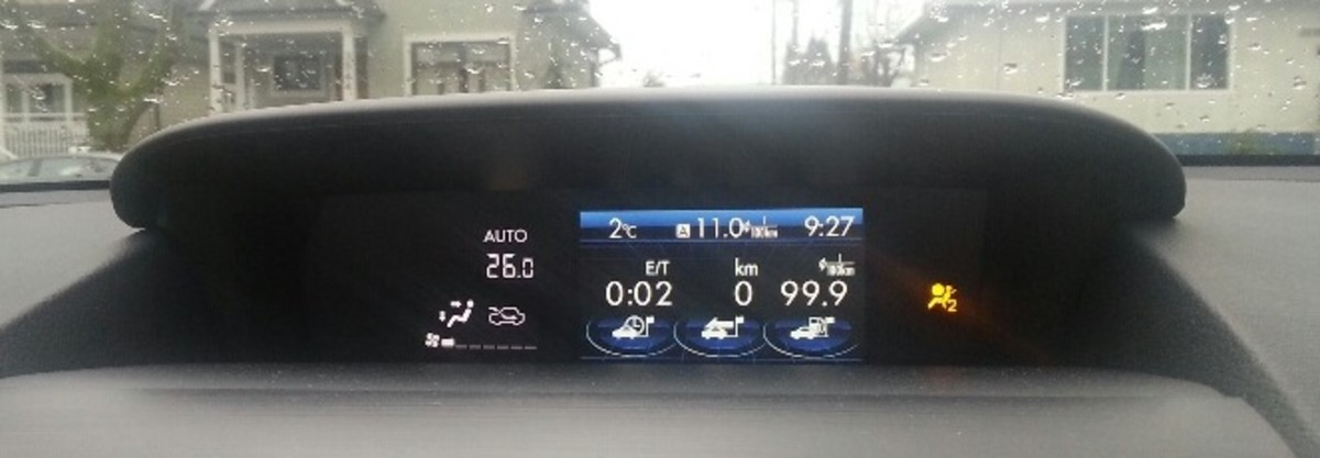 Subaru XV Crosstrek: after 1 minute of idling and 2 minutes of driving during the winter season