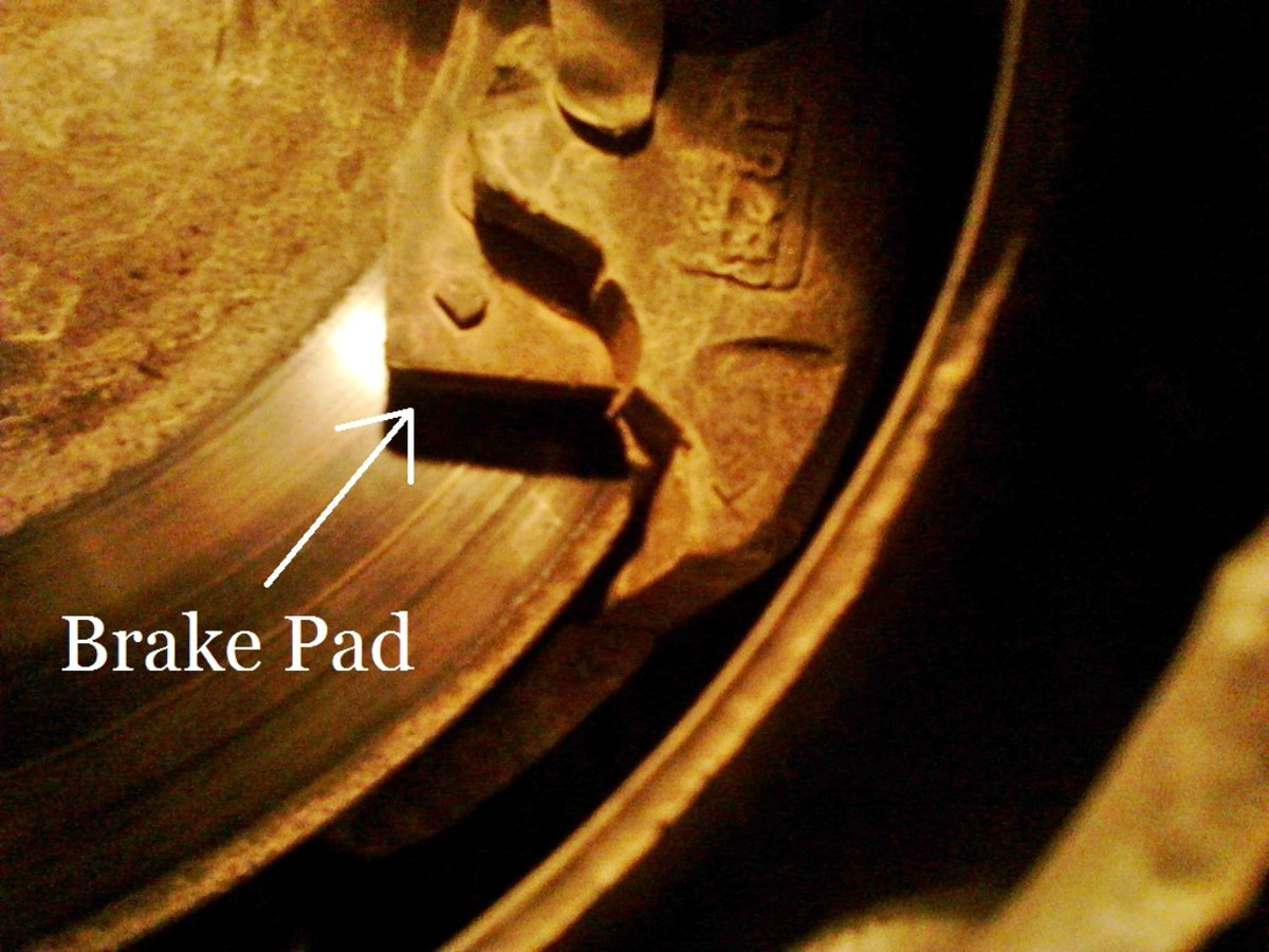 Brake Pads Can Be Checked With a Flashlight.