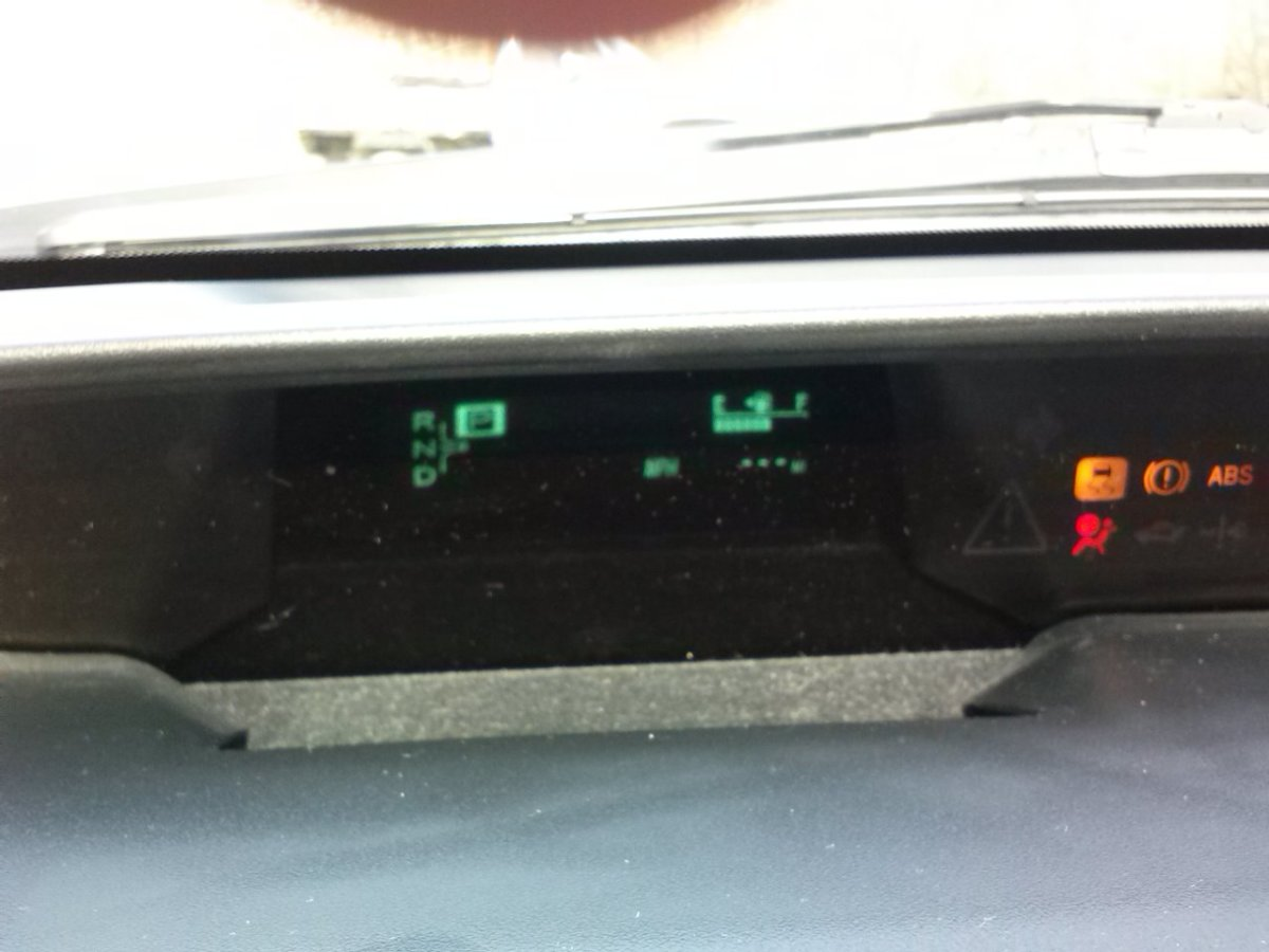 Picture of the dash showing the blinking hyphens in place of the typical ODO reading.