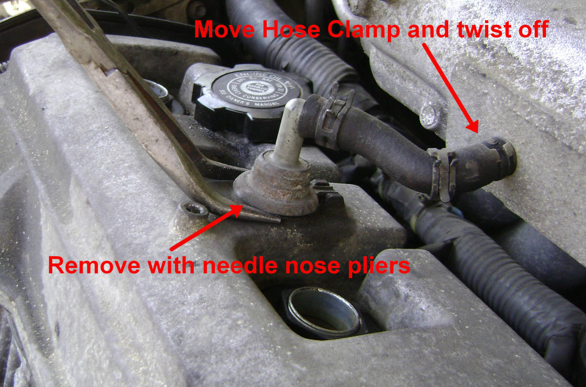 Removing Camry PCV
