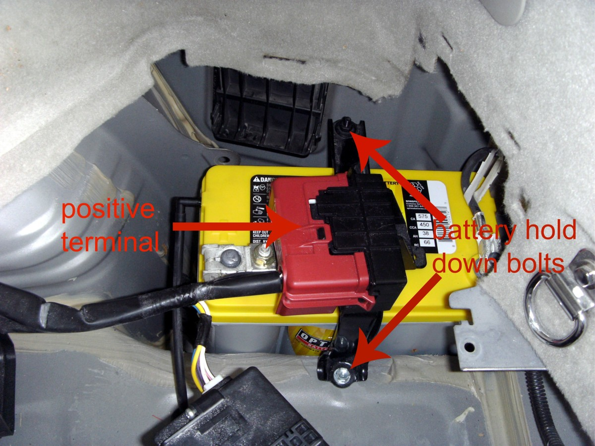 Location Of The Positive Battery Terminal Remove Entire Plastic Embly In One Piece