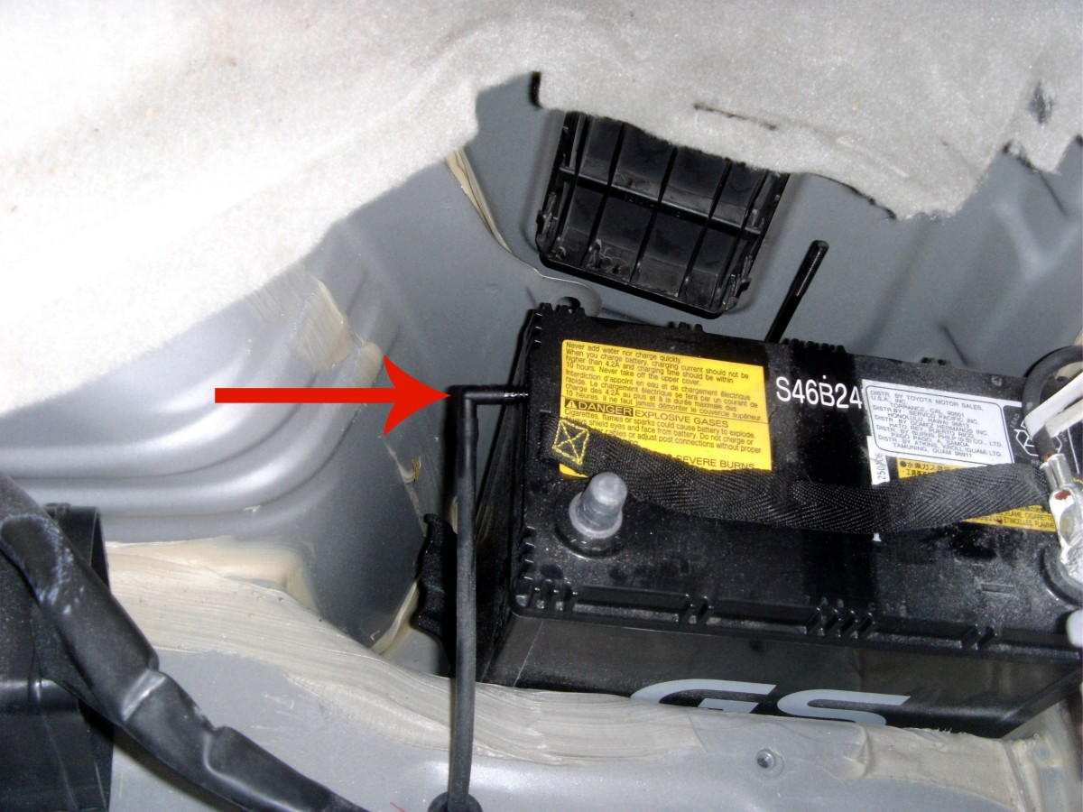 Pull the vent tube straight out of the battery