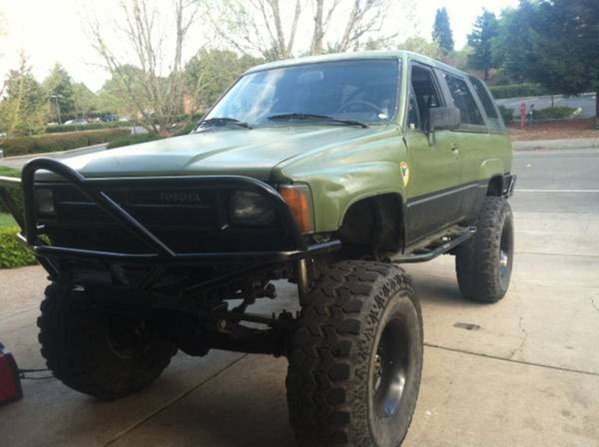 This, of course, is a modified 4Runner built for some serious off-road use.