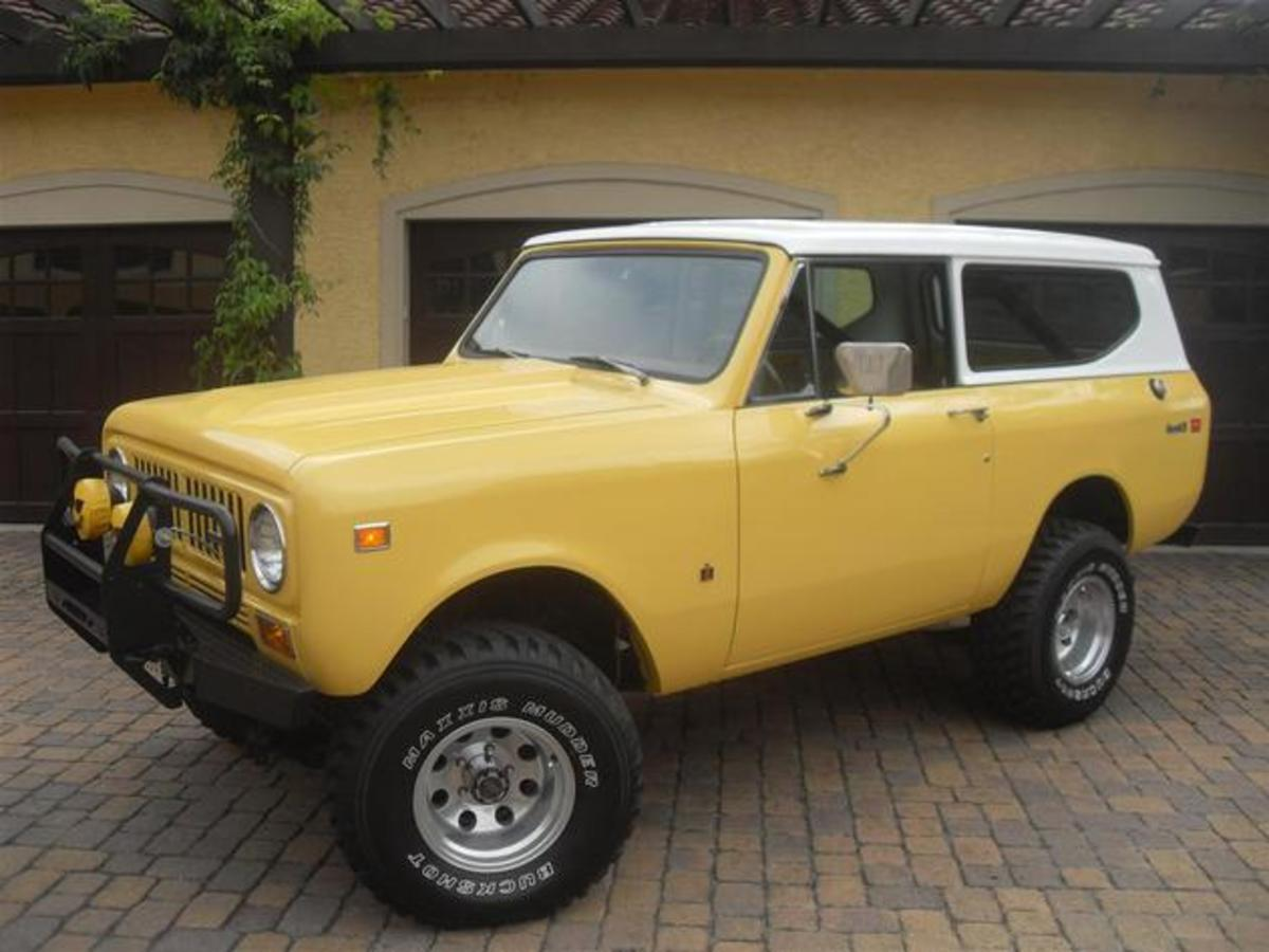 The International Scout was really the first true SUV, and has attracted a cult following for a reason. They're the perfect size and are built incredibly tough.