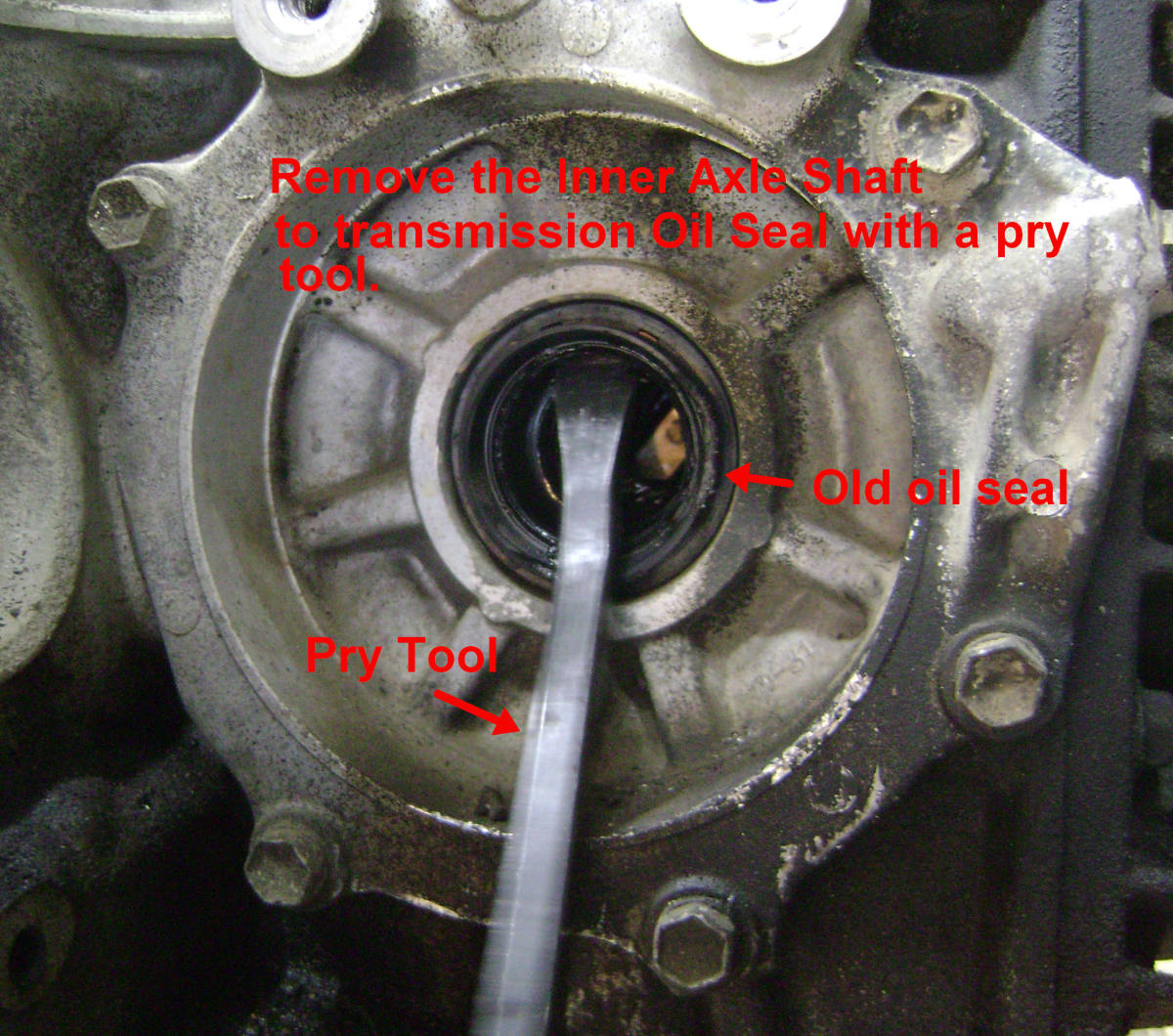 replacing the cv axle shaft and seal on a toyota camry