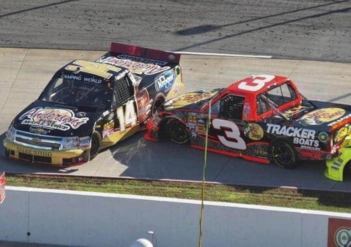 Ty Dillon and Kevin Harvick ended each other's day at Saturday's truck race.