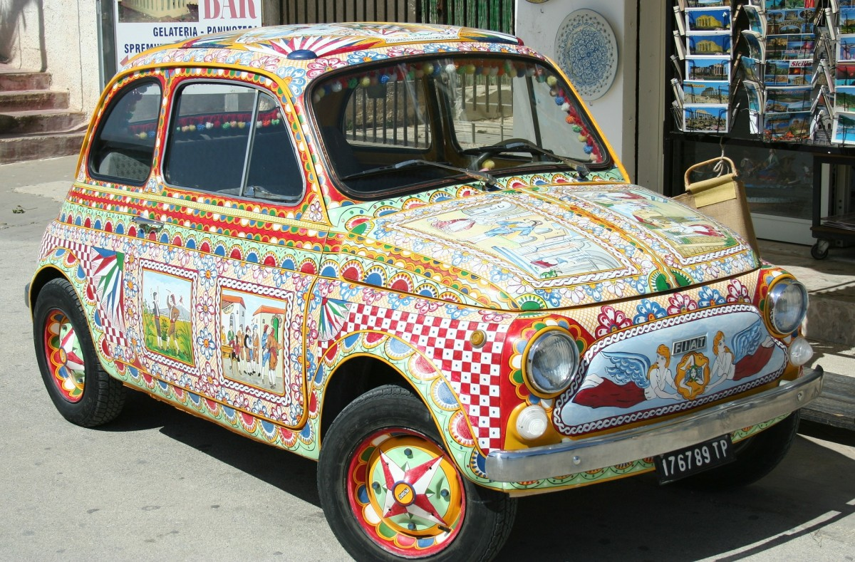 A Colorful Fun Car