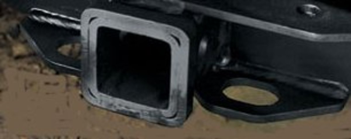 This standard tow hitch receptacle can accept a variety of tow connectors, from a standard ball hitch to one of the more popular slide-in hitch adapters used most often for towing heavier loads.