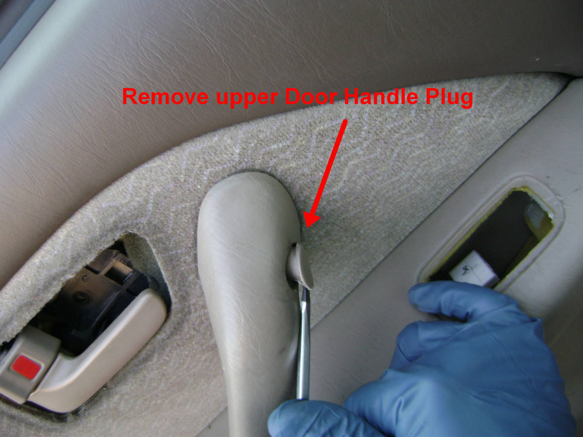 Toyota Camry rear door panel plug #2 removal