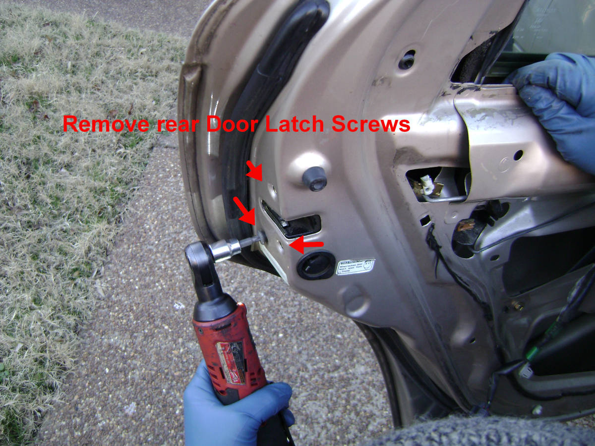 Toyota Camry Rear Door Latch / Lock Removal